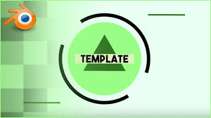 2d intro templates for blender free super clean green 2d intro template blender youtube