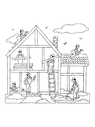 custom home builder coloring page coloring pages pinterest