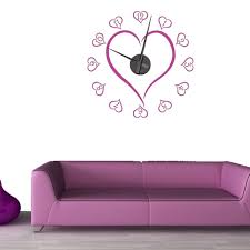 love heart wall sticker clock wall chimp uk love heart wall sticker clock
