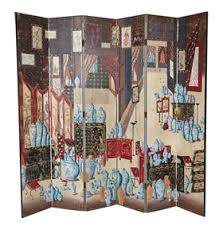 hand painted chinoiserie room screen traditional transitional