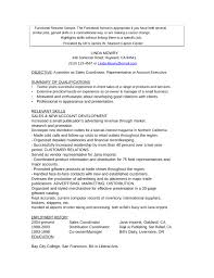 functional resume objective resume example 74 account executive resume sample account