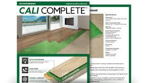 moisture u0026 vapor barrier cali complete floor underlayment
