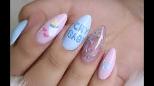Baby Nail Art Design Easy Nail Art Melanie Martinez Inspired Youtube