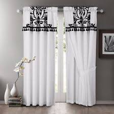 White Faux Silk Curtains Faux Silk Curtains Ebay