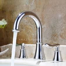 antique silver three set bathtub faucet for bathroom