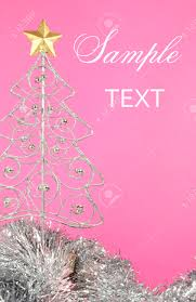 beautiful pink merry silver and gold ornament tree
