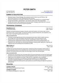 standard resume exles standart resume