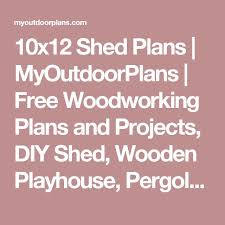 Diy 10x12 Shed Plans Free by