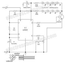 flashing led lights circuit schematic electronics pinterest