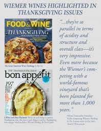 wiemer wines highlighted in thanksgiving issues hermann j