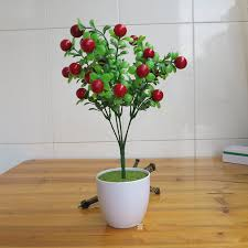 Home Decor Artificial Plants Home Decor Artificial Plants 6 Fork Simulation Fruit Lucky Rich