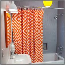 Orange Shower Curtains Orange And Gray Shower Curtains Curtains Home Design Ideas