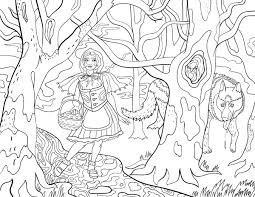 free printable red riding hood coloring