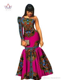 2016 asymmetrical party dress custom made african printed dashiki