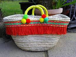 Beach Basket Childrens Beach Basket Embellished Bag Shopping Basket By Mari