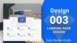 design 003 landing page website design on sketch youtube