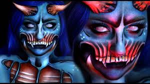 pop art demon halloween costume makeup tutorial w jordan hanz