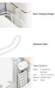 idrop creative u type back door type double roll hook toilet paper