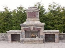 concrete block outdoor fireplace unilock outdoor fireplace kit