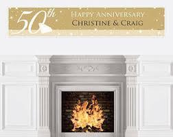 50 Wedding Anniversary Centerpieces by 50th Wedding Anniversary Banner 50th Anniversary Banner
