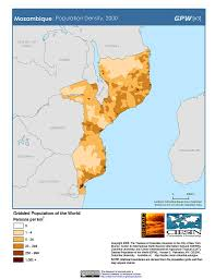 Mozambique Map Map Gallery Sedac