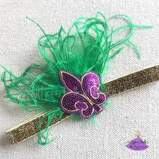 mardi gras headband mardi gras headband baby to southern belles like big bows
