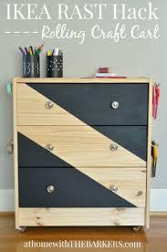 Rolling Cart Ikea The Best Ikea Rast Dresser Hacks Classy Clutter
