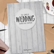 Wedding Planner Book White Wood Grain Style Wedding Planner Book 124 Pages Of Wedding