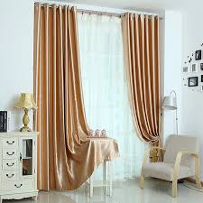 Black Out Curtain Fabric Bright Champagne Color Thick Polyester Fabric Blackout Lining