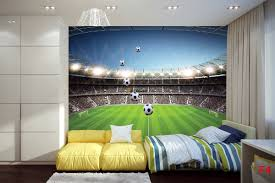 Football Wall Murals by Mural Scenic Stadium Clear Blue Skya And Football