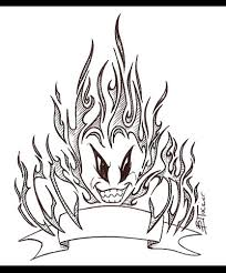 fire demon tribal tattoo by tux20 on deviantart