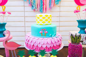 Tropical Themed Cake - kara u0027s party ideas flamingo cake from a tropical flamingo birthday