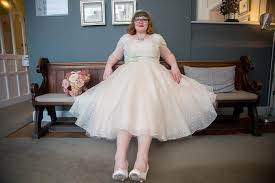 wedding dresses made to order a bit vintage for helen s polka dot and lace wedding dress