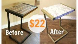 Diy Marble Coffee Table by Diy Gold Marble Table For 22 Youtube