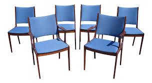 johannes andersen danish modern rosewood dining chairs set of 6