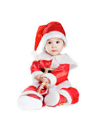 baby boy christmas asian baby boy in a christmas fancy dress stock image image of