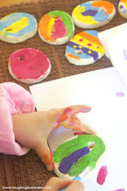 salt dough easter ornaments can make and paint laughing