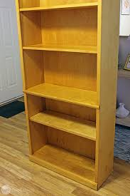 Particle Board Bookcase Giving Old Laminate Furniture A Whole New Look One Good Thing
