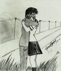 pencil sketches of couples in love cute couple hemant kandpals art