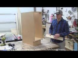 how to build kitchen cabinet carcass youtube