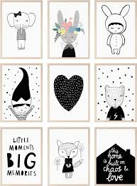 Monochrome Posters Kids Room Childrens Rooms Pinterest - Prints for kids rooms