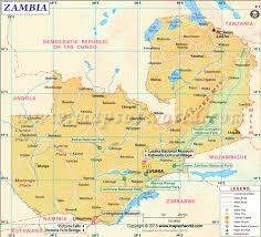 Africa Time Zone Map by Map Of Zambia Zambia Map