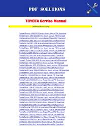 2006 toyota sequoia owners manual toyota workshop service repair manual pdf