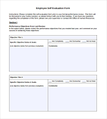 sample employee self evaluation form 5 free documents in pdf