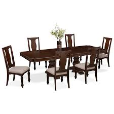 Dining Room Side Chairs Vienna Dining Table And 6 Side Chairs Merlot Value City