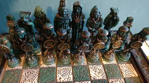 my awesome chess set based off the conquistadores that fought the
