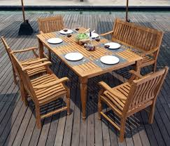 patio table with 4 chairs big 6 pc teak wood dining set outdoor furniture patio table 4 chairs