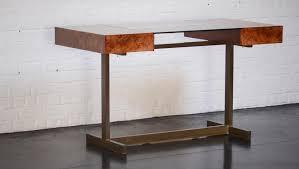 le bureau laiton bureau vintage en laiton verre et broussin d orme par willy rizzo