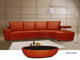 Sectional Sofas Free Shipping Matisse Modern Oversized Sectional Sofa In Top Grain Orange Or