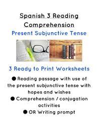 spanish present subjunctive reading comprehension el presente
